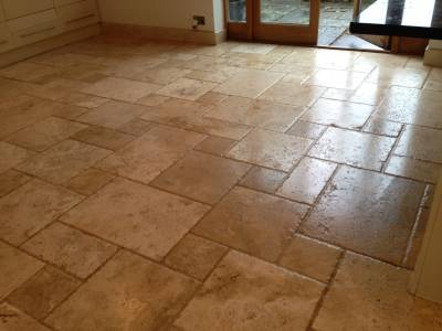 Travertine Floor Clean 'N' Seal Chepstow / www.cleanandsealsouthwest.co.uk